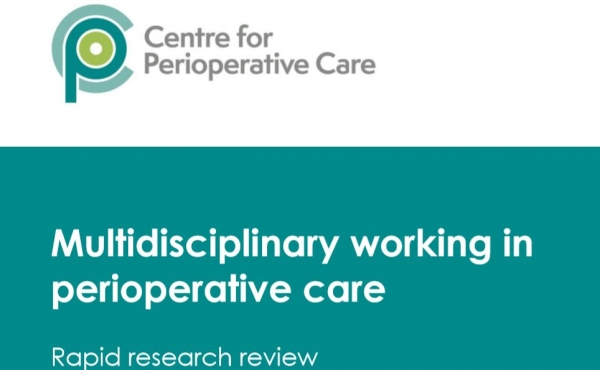 Front page of multidisciplinary working in perioperative care published by CPOC